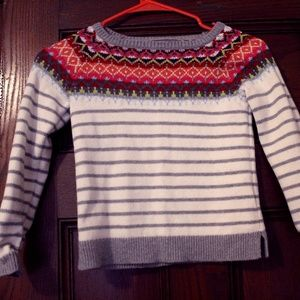 Size 6x-7 LANDS' END Sweater & Khaki Pants
